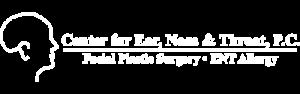 Center for Ear, Nose & Throat, P.C. Logo - White